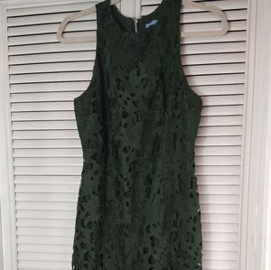 Antonio Melani green lace sherry midi dress 4